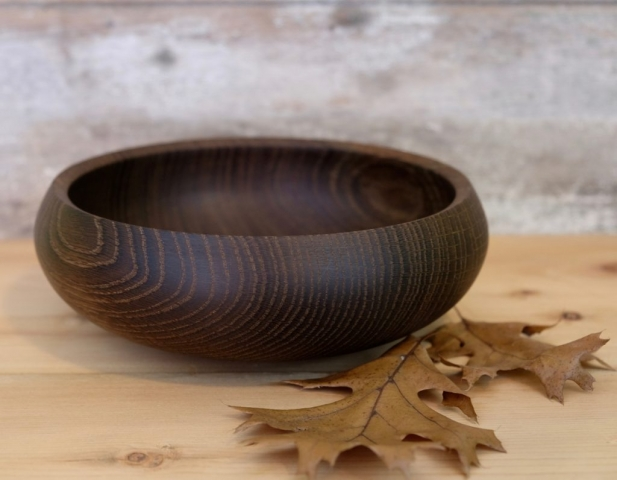 Fumed White oak bowl