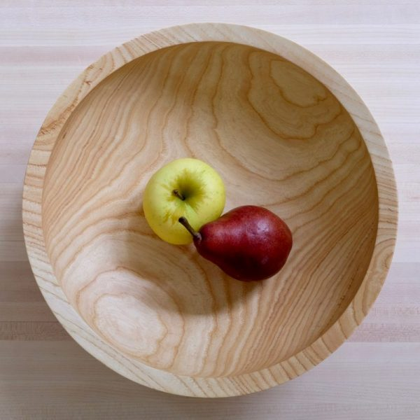 Ash bowl with pear and apple